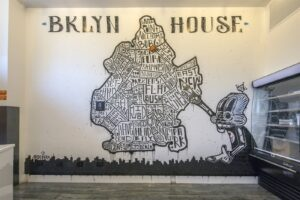 Brooklyn House Mural Map