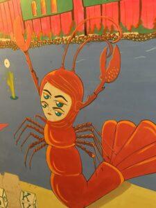 Lobster mural painting
