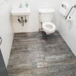 Accessible Public Bathroom with Grab Bars