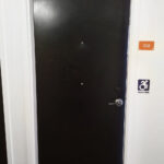 Accessible Room Door with Peephole